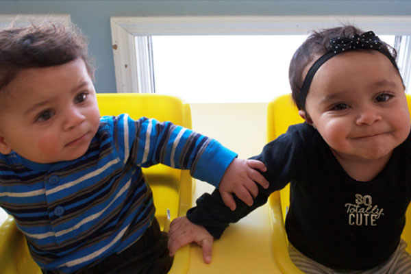 toddlers bonding at The Learning Center Daycare